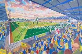 Plainmoor on matchday print